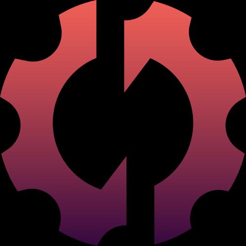 红色齿轮矢量logo图标矢量logo