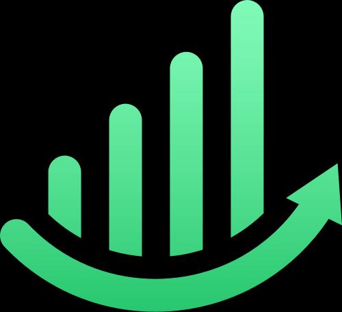 绿色曲线增长矢量logo图标