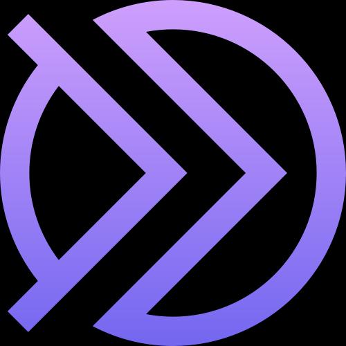 紫色圆环箭头矢量logo图标