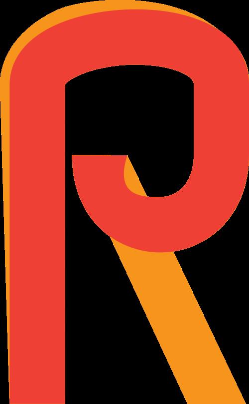 字母R矢量logo图标矢量logo