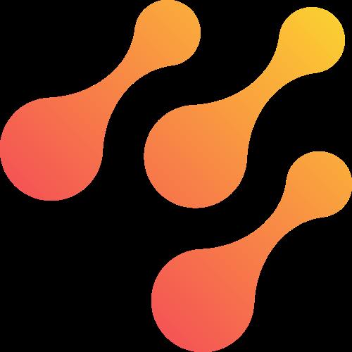 橙色抽象矢量logo图标