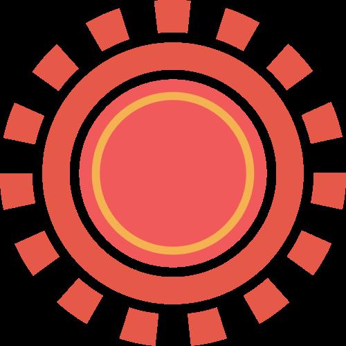 红色太阳矢量logo图标矢量logo