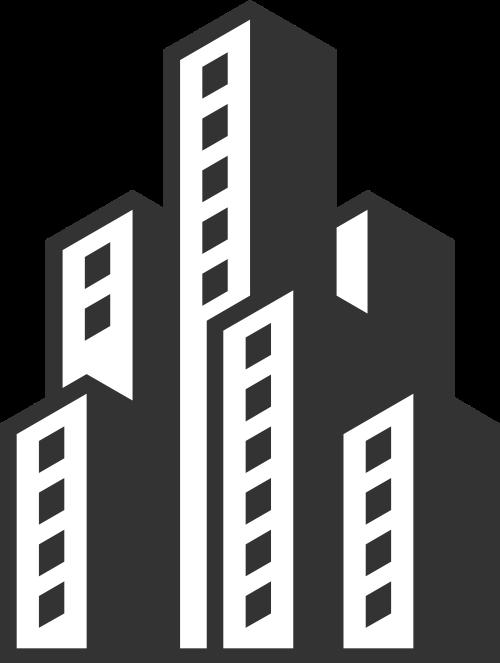 黑色建筑矢量logo图标矢量logo