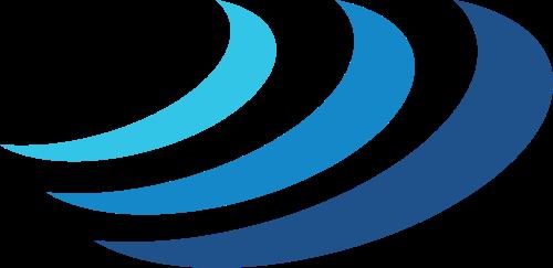 蓝色海浪矢量logo图标矢量logo