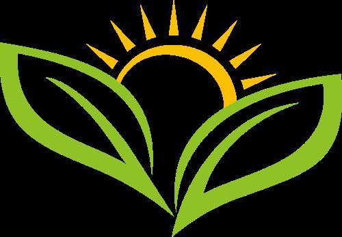 绿色黄色太阳叶子矢量logo图标