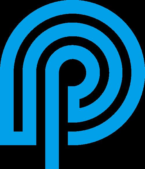 蓝色通讯矢量logo图标