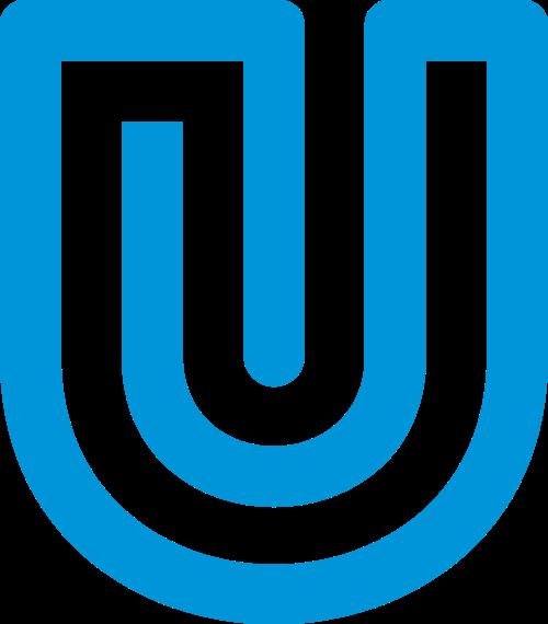 蓝色字母U矢量logo图标
