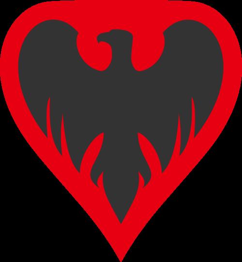 老鹰红色勋章矢量logo图标矢量logo