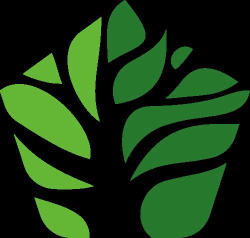 绿色树叶有机矢量logo图标