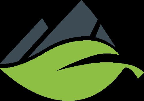叶子山峰矢量logo图标矢量logo