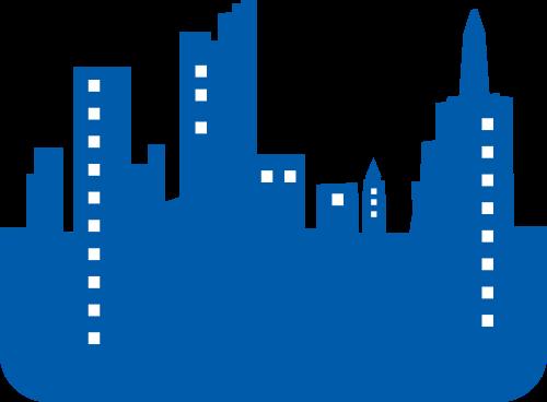 蓝色城市矢量logo图标