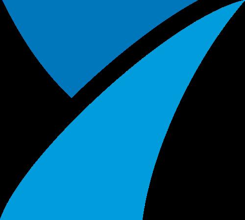 蓝色数字7矢量logo图标
