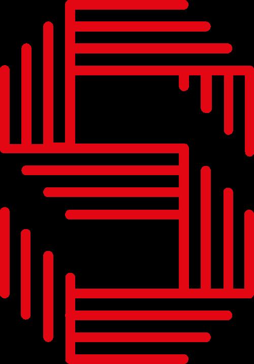 红色字母S矢量logo图标