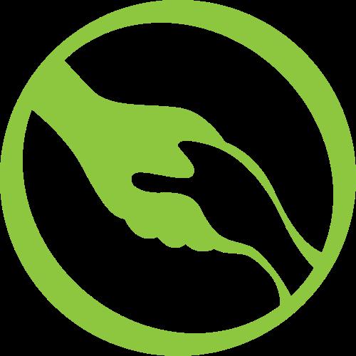绿色圆环拉手矢量logo图标
