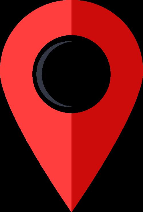 红色地点矢量logo图标矢量logo