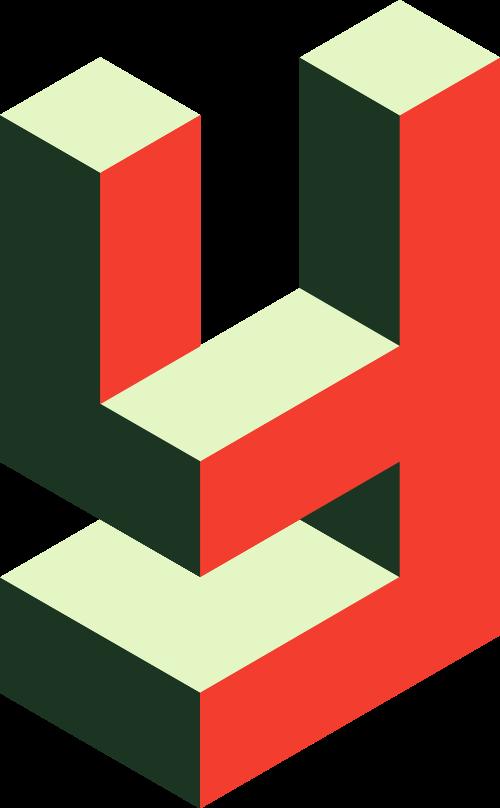 红色字母Y立体矢量logo图标
