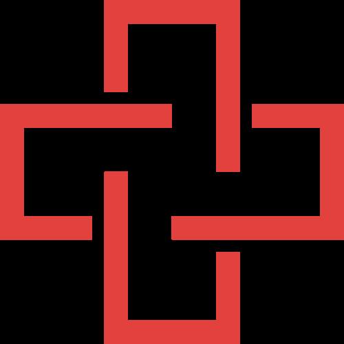 红色十字矢量logo图标矢量logo