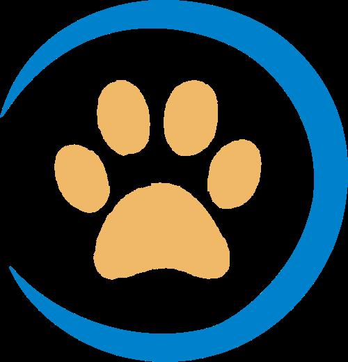 黄色爪子动物矢量logo图标
