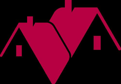 红色房子矢量logo图标矢量logo