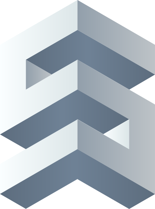 灰色立体字母S矢量logo图标