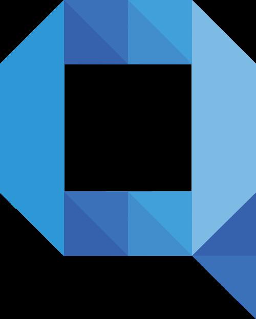 蓝色字母Q矢量logo图标矢量logo