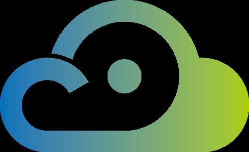 绿色云朵矢量logo图标