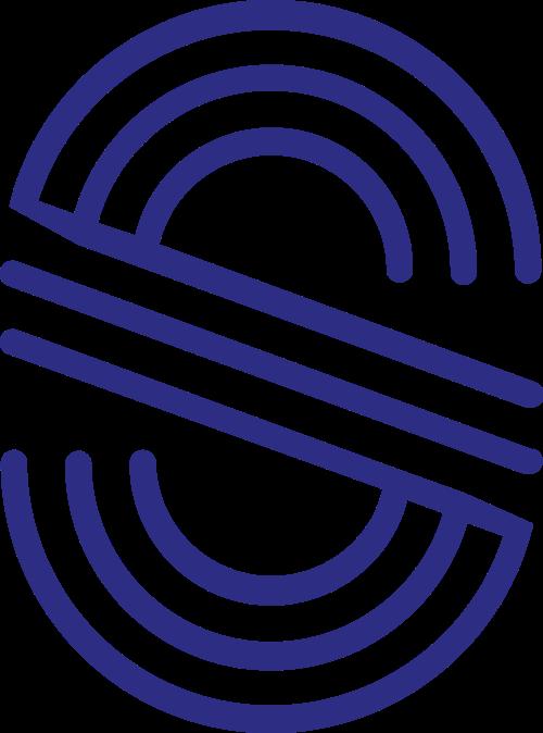 蓝色字母S矢量logo图标