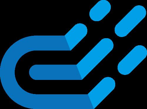 蓝色云矢量logo图标