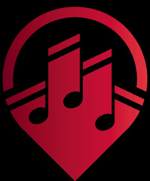 红色音乐影视矢量logo图标矢量logo