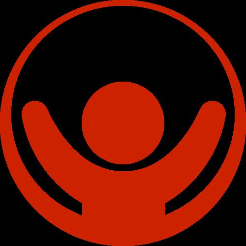 红色人物圆环矢量logo图标