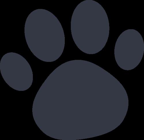 黑色宠物爪子矢量logo图标