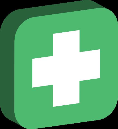 绿色方块十字架矢量logo图标矢量logo