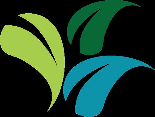 彩色树叶矢量logo图标矢量logo