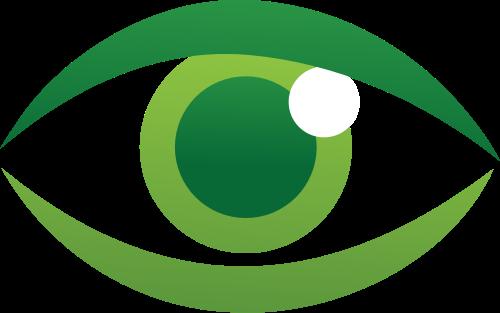 绿色眼睛矢量logo图标矢量logo