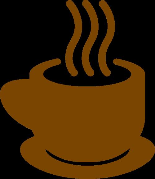 棕色咖啡矢量logo图标