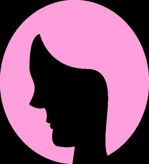 粉色女人头像矢量logo图标矢量logo