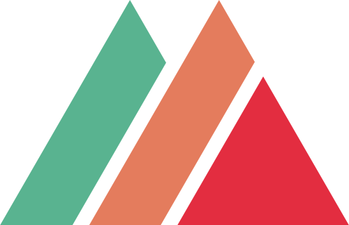 红橙绿三角形建材矢量logo图标