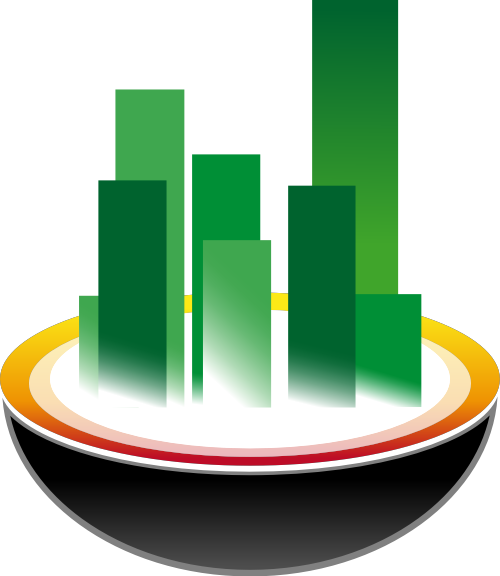 绿色楼建筑矢量logo图标矢量logo