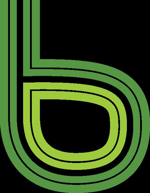 绿色字母B矢量logo图标矢量logo