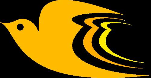 黄色鸽子矢量logo图标