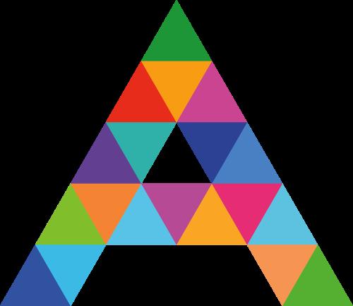 字母A彩色矢量logo图标
