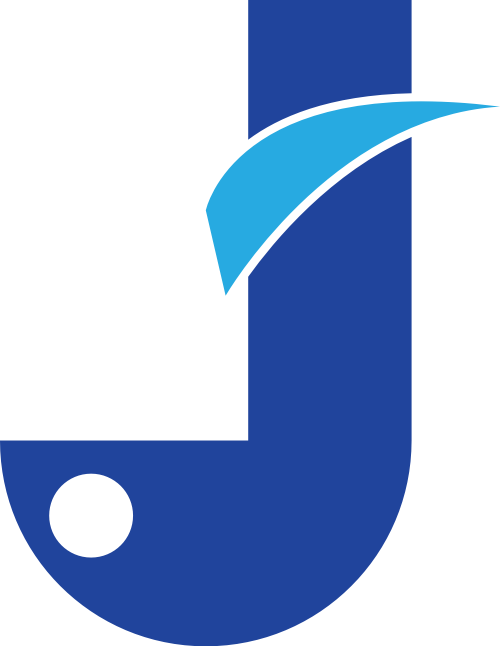 蓝色字母J矢量logo图标