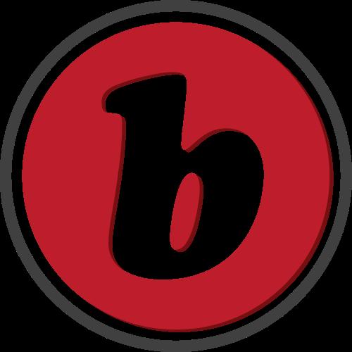 红色圆圈字母b矢量logo图标矢量logo