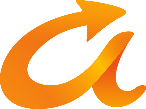 黄色字母A箭头矢量logo图标矢量logo