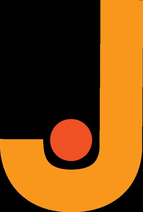 黄色字母J矢量logo图标