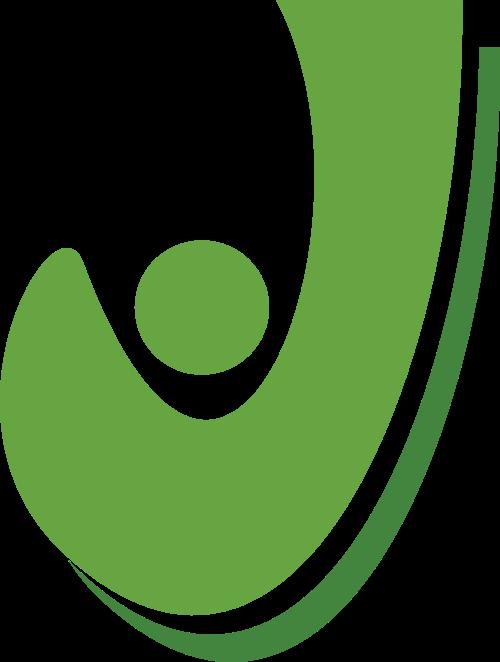 绿色字母J矢量logo图标