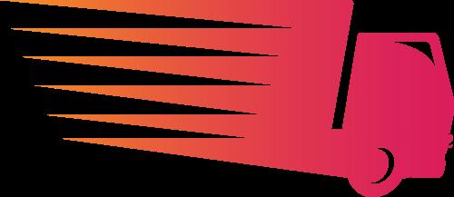 粉红客车货运矢量logo图标矢量logo