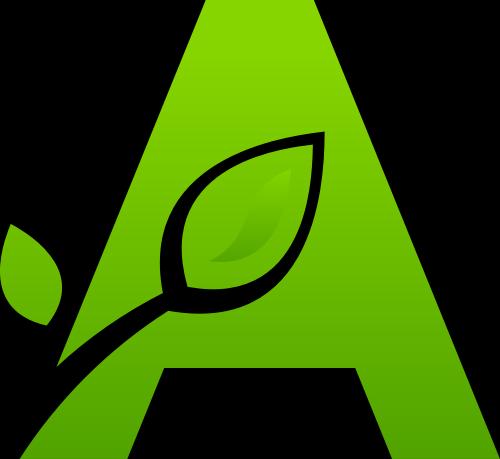 绿色叶子字母A矢量logo图标矢量logo