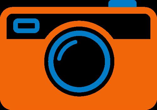 橙色相机矢量logo图标