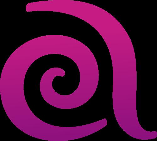 紫色字母a矢量logo图标